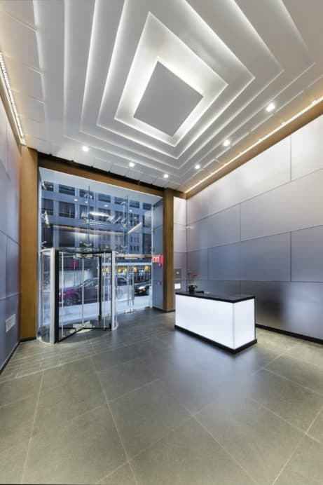 Modernized lobby design, 1156 Avenue