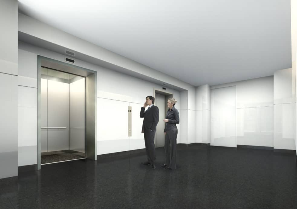 Upgraded elevator zone, 1156 Avenue