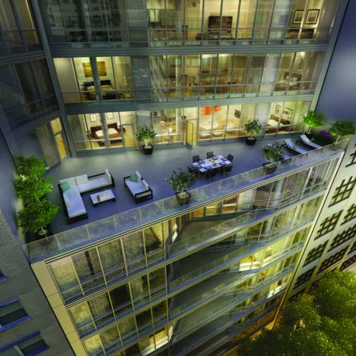 large penthouse residence