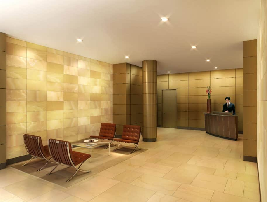 Residential unit lobby design