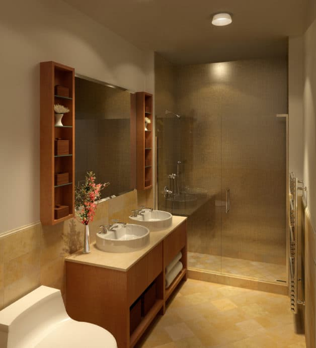 Luxury condominium bathroom
