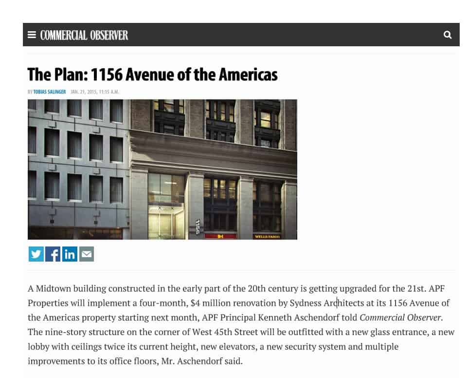 The Plan: 1156 Avenue of the Americas