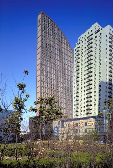 Exterior view of Shanghai St Regis hotel