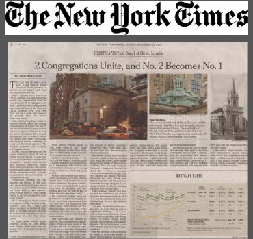 first church of christ scientist, The New York Times