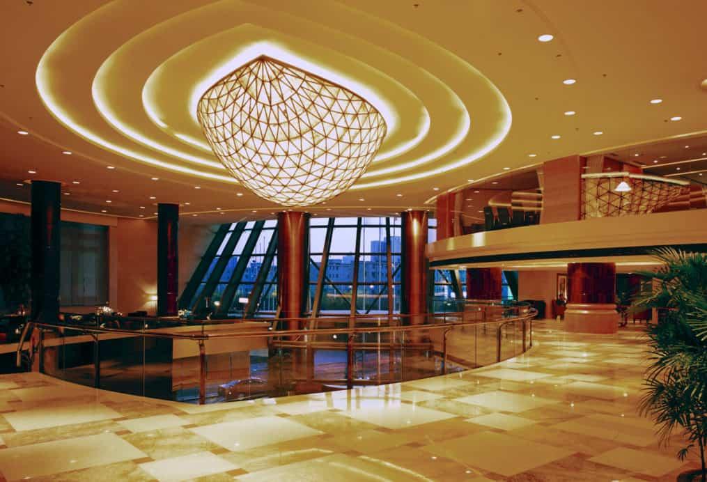 Lobby design of Shanghai St Regis hotel